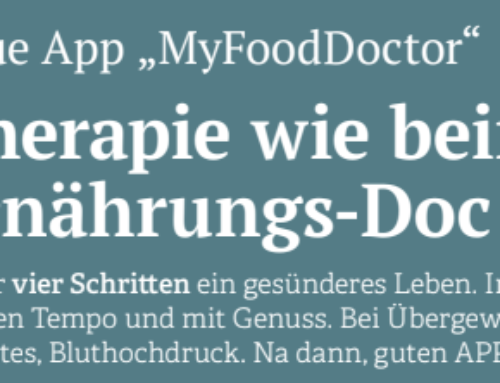 "Neue App ""MyFoodDoctor"""